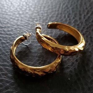 VTG KJL hoop earrings